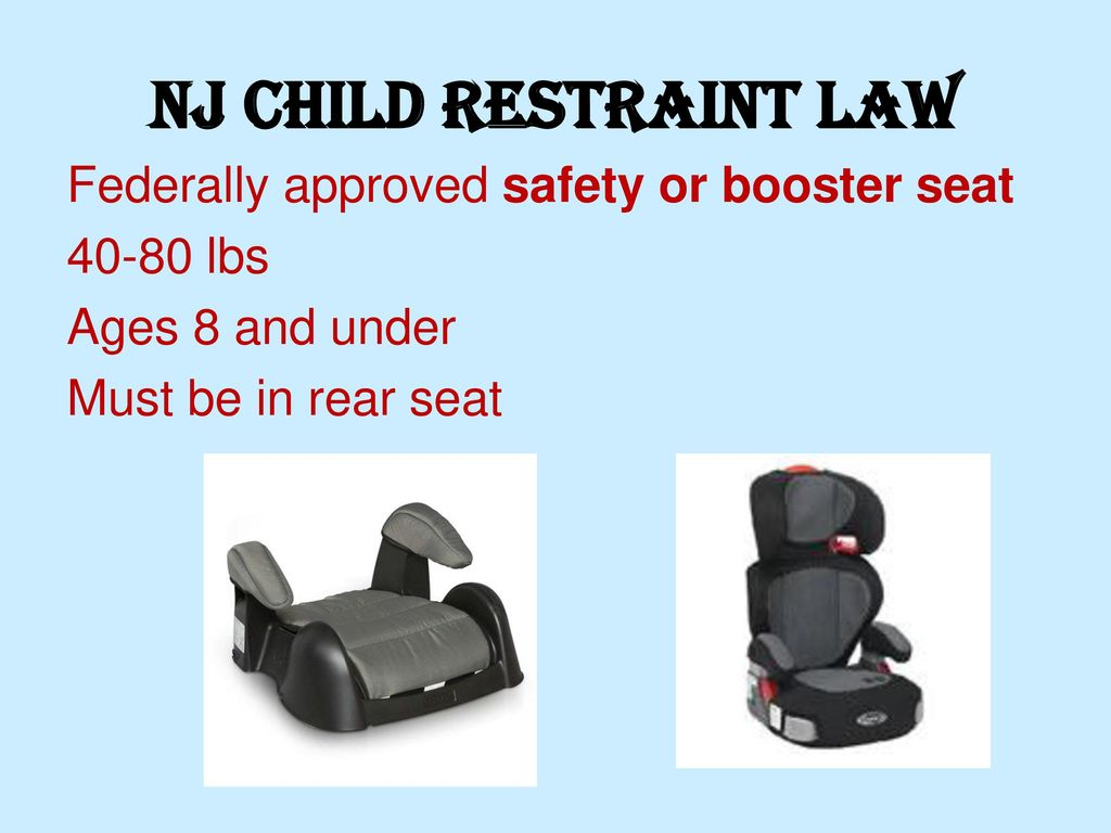 Rear Facing Car Seat Law Nj Nj Dmv Chapter 3 Driver Safety The Rules Of The Road