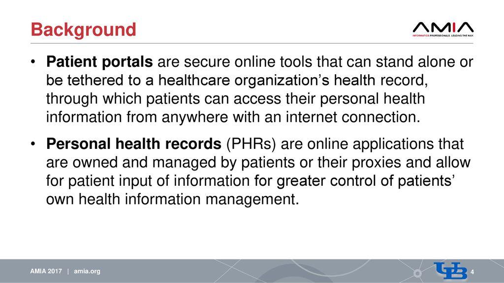 Barriers, Facilitators,  Solutions to Optimal Patient Portal
