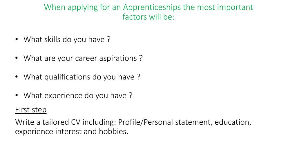 What skills do you have ? What are your career aspirations ? - ppt