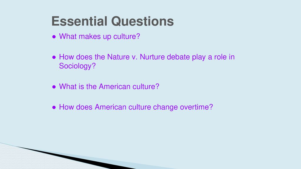 Culture and Socialization - ppt download