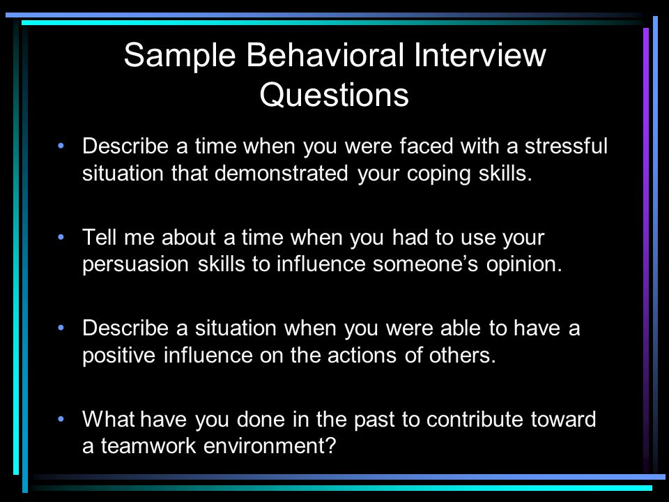 102 Behavioral Interview Questions and Answers - mandegarinfo - sample behavioral interview questions and answers