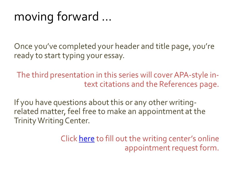 create an APA-style title page using Microsoft Word ppt video online
