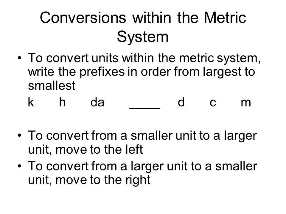 The METRIC SYSTEM  CONVERSIONS - ppt video online download