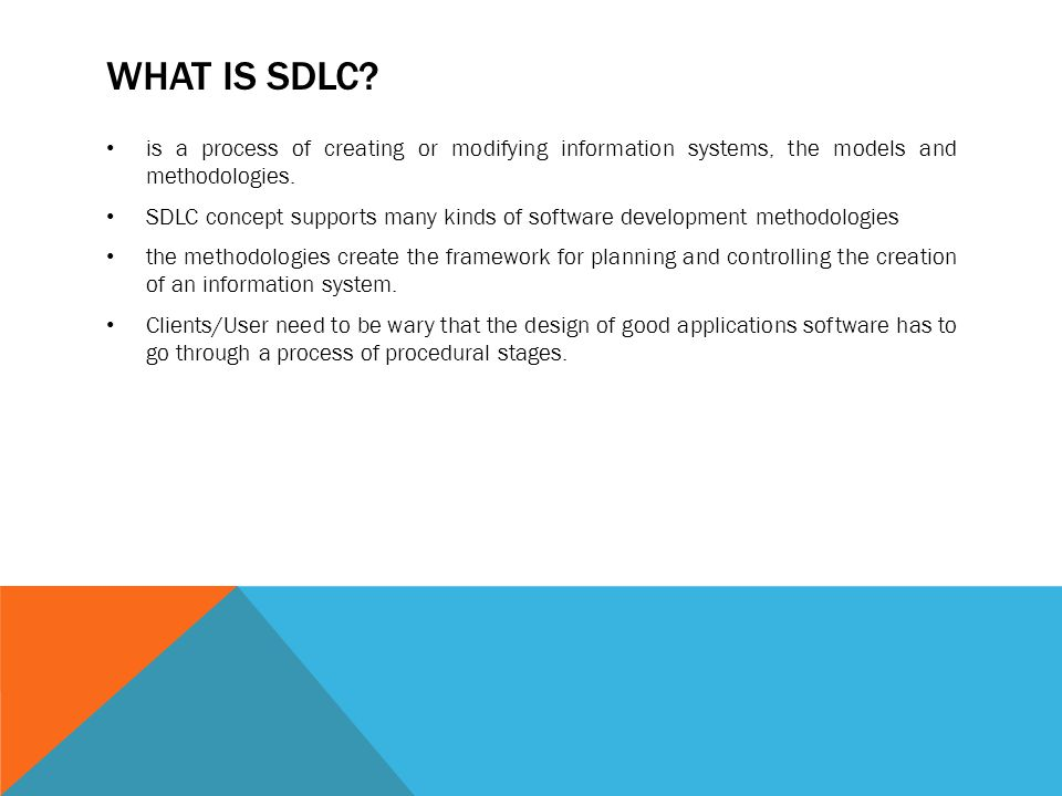 Systems Development Life Cycle (SDLC) - ppt download