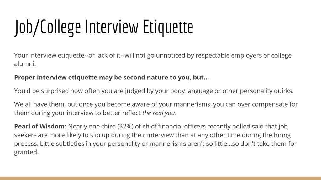 The Interview Lesson 4 in the getting a job BRUIN STYLE - ppt download