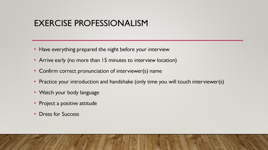 Preparing for an interview - ppt download