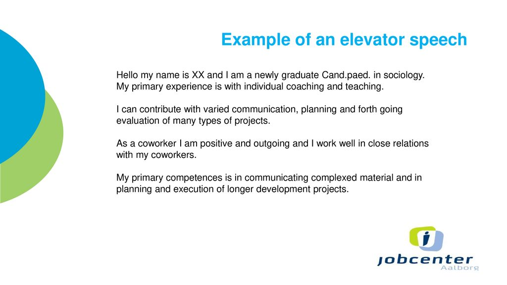 Elevator Speech Examples For Teachers masterlistforeignluxury