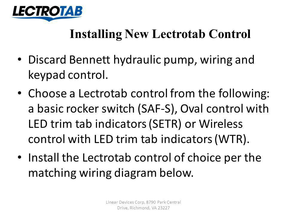 Lectrotab Retrofit Instructions (Replacing Bennett Standard System