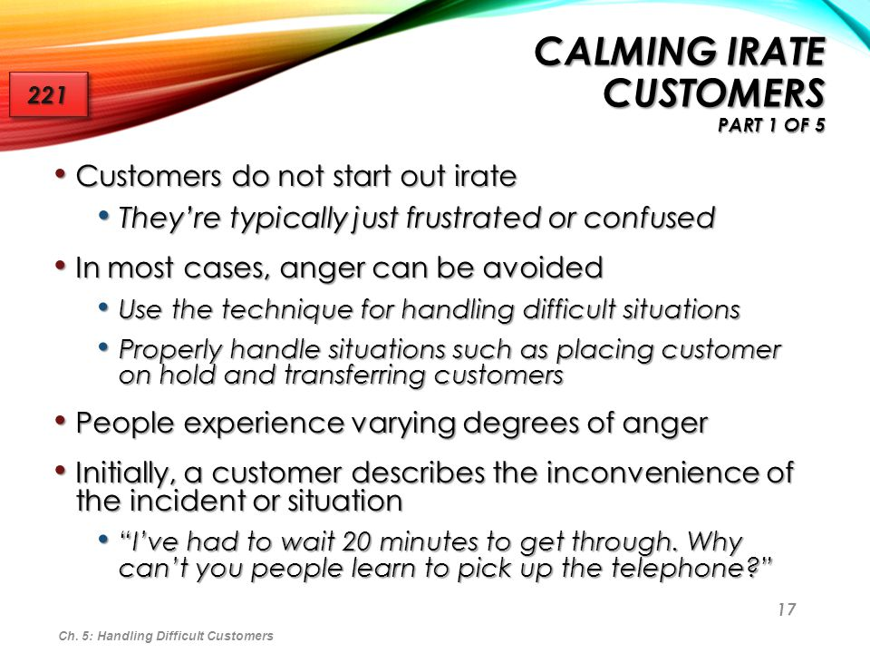 Chapter 5 Handling Difficult Customer Situations - ppt video online - how do you handle difficult situations