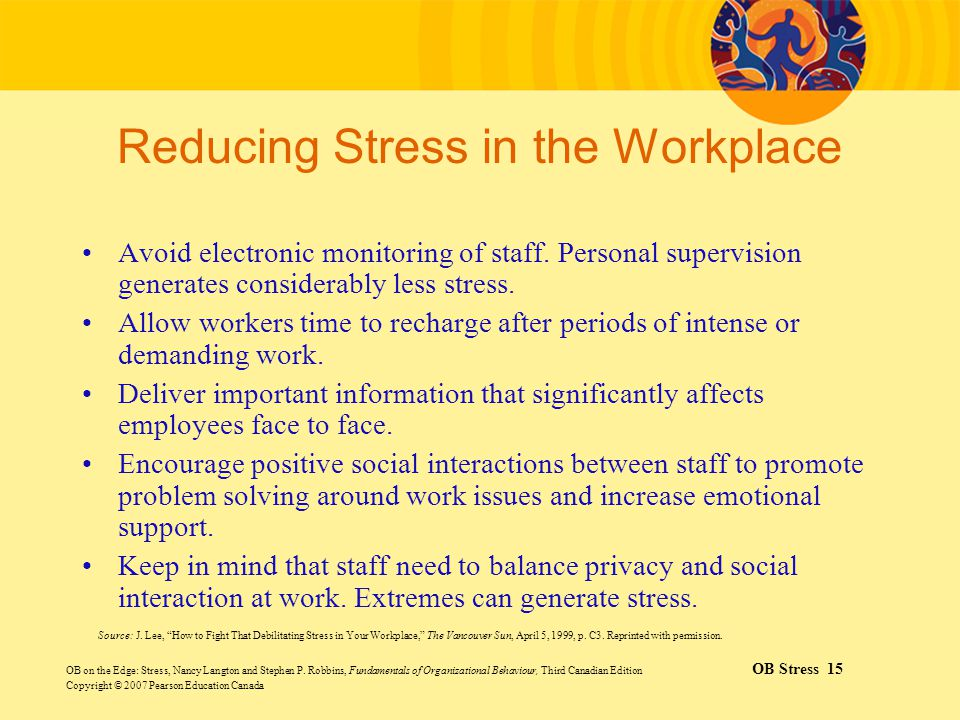 Stress at Work OB on the Edge - ppt video online download