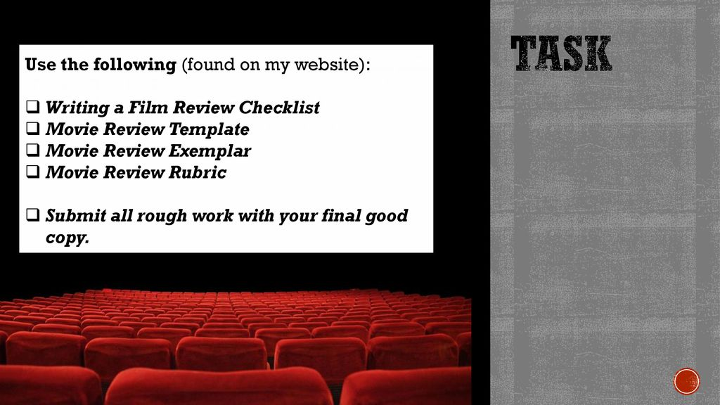 How to Write a Film Review - ppt download
