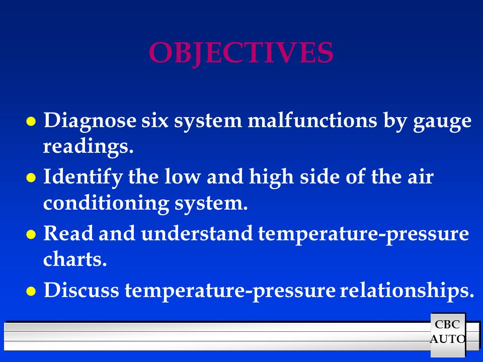 AIR CONDITIONING SYSTEM DIAGNOSIS - ppt video online download