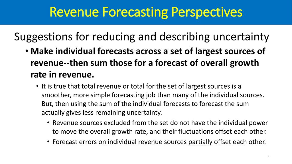 Government Revenue Forecasting Perspectives - ppt download