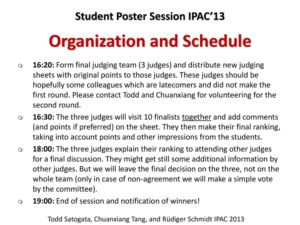 Poster Judging Form Ipac 13 Debrief Jacow Ipac 13 Was In Shanghai China May Ppt