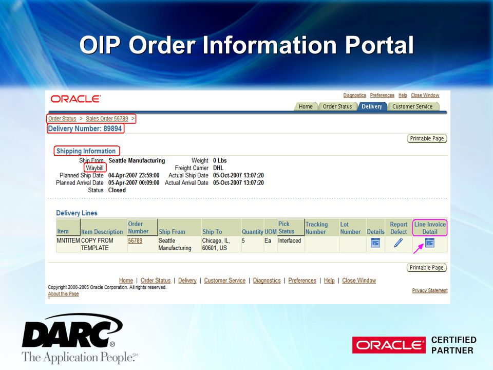 OIP Order Information Portal - ppt video online download - shipping information template