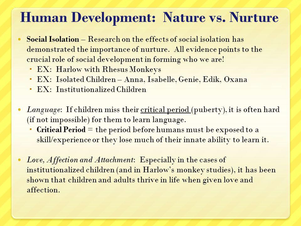 Nature V Nurture A Sociological View Homework Academic