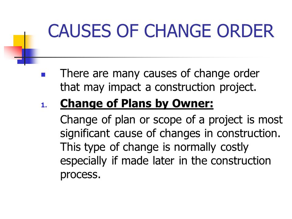 ABC Change Orders College of Environmental Design - ppt download