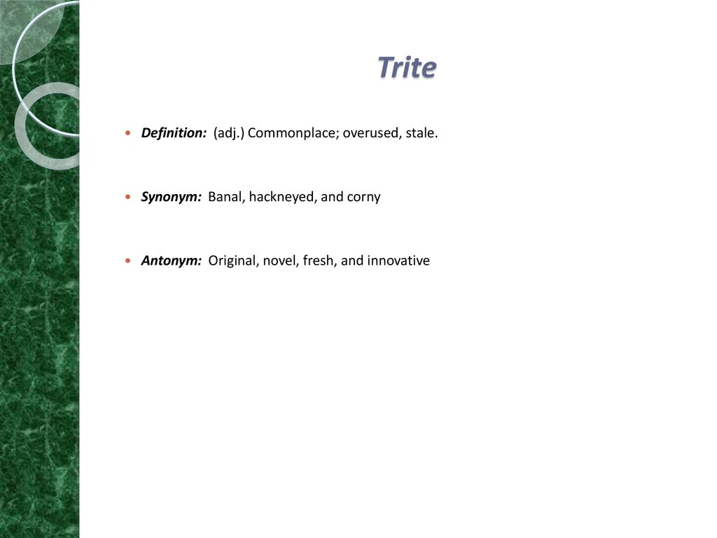 Synonym Innovativ Use For Studying Purposes Only Ppt Download