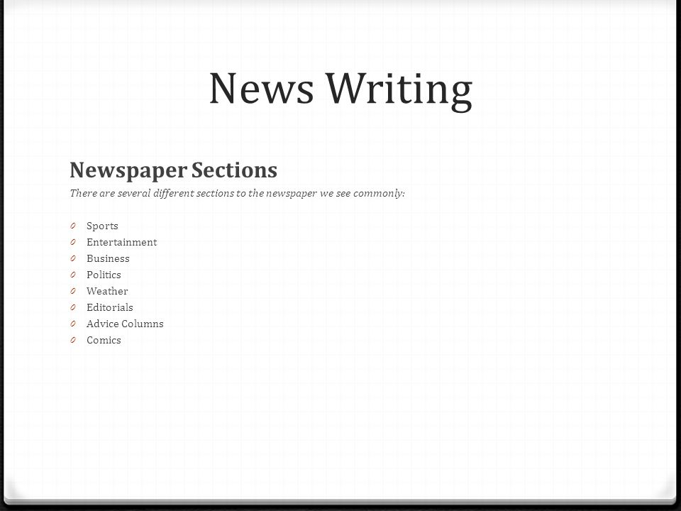 News Writing Tell me a story! - ppt video online download