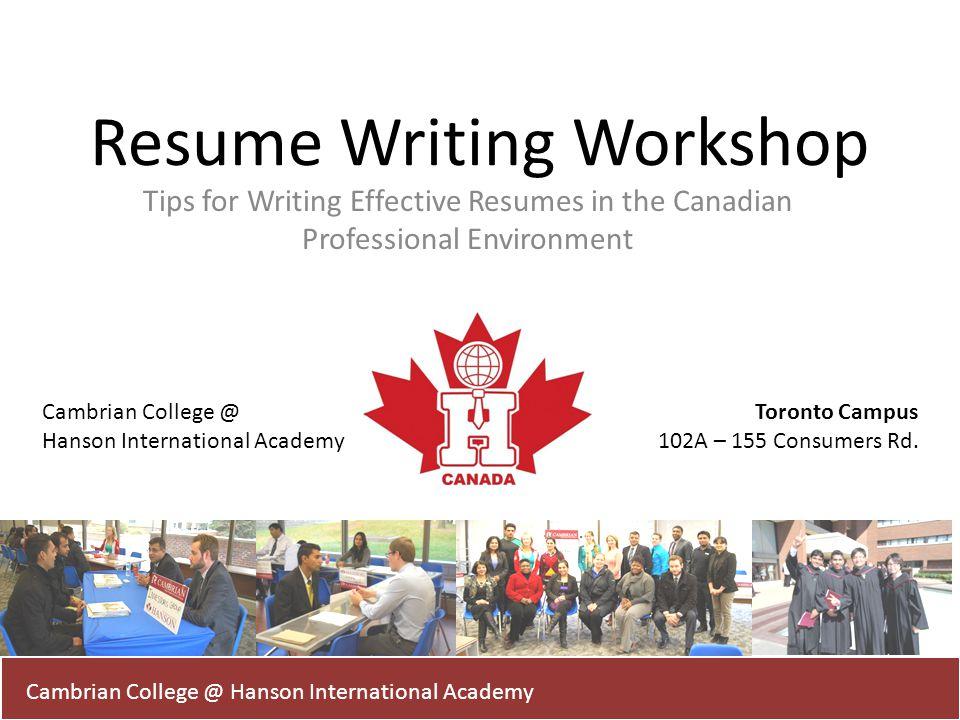 Resume Writing Workshop - ppt video online download