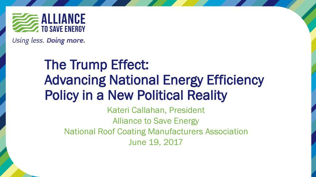 Kateri Callahan, President Alliance to Save Energy - ppt download