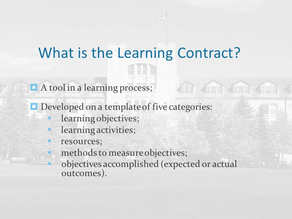 Befriending your Learning Contract - ppt download