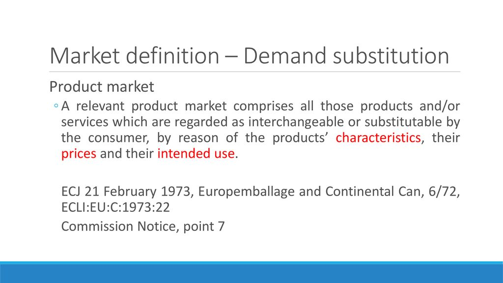 Definition of the Relevant Market - ppt download