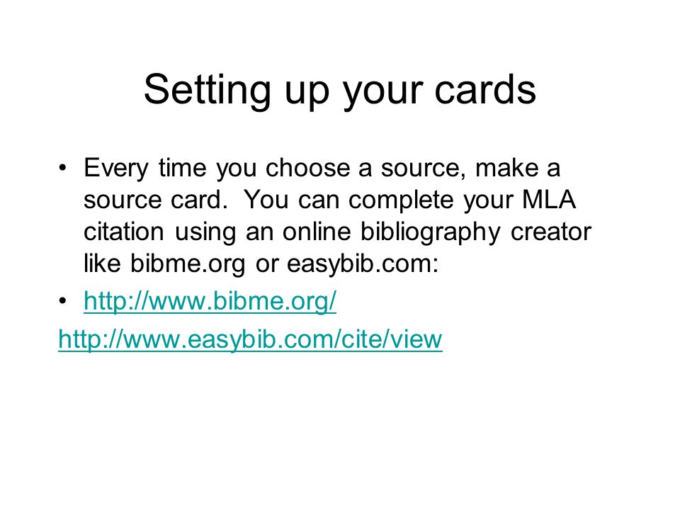 MLA PowerPoint Bibliography and Note Cards - ppt video online download - online note cards
