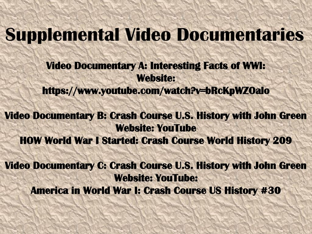 Facts About Wwi The War To End All Wars Ppt Download
