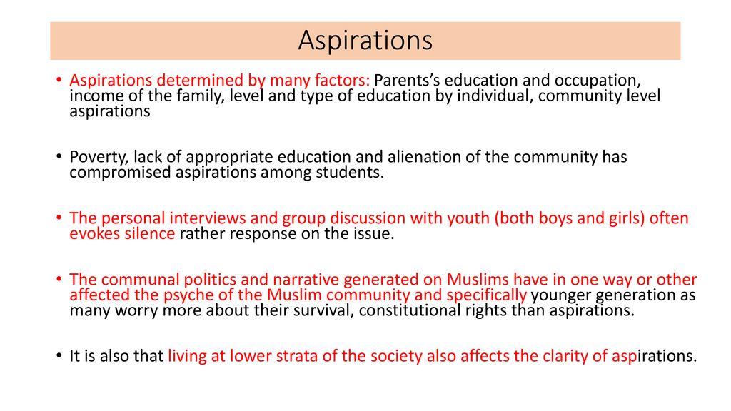 Aspirations among Muslim Girls - ppt download