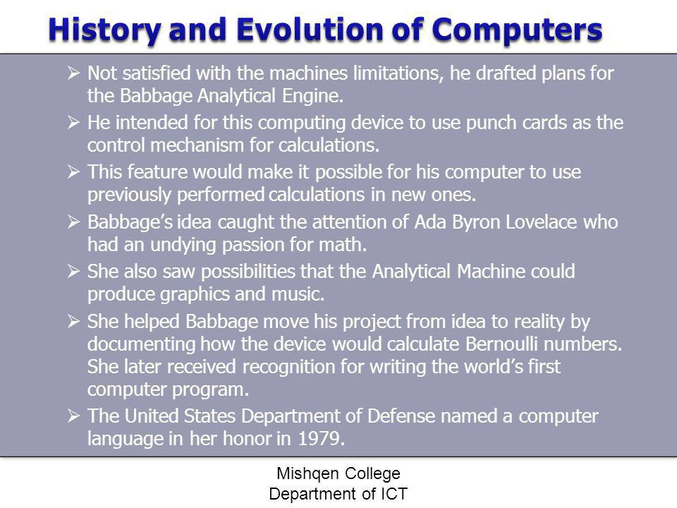 The history of computer programming essay Coursework Help - history of computers essay