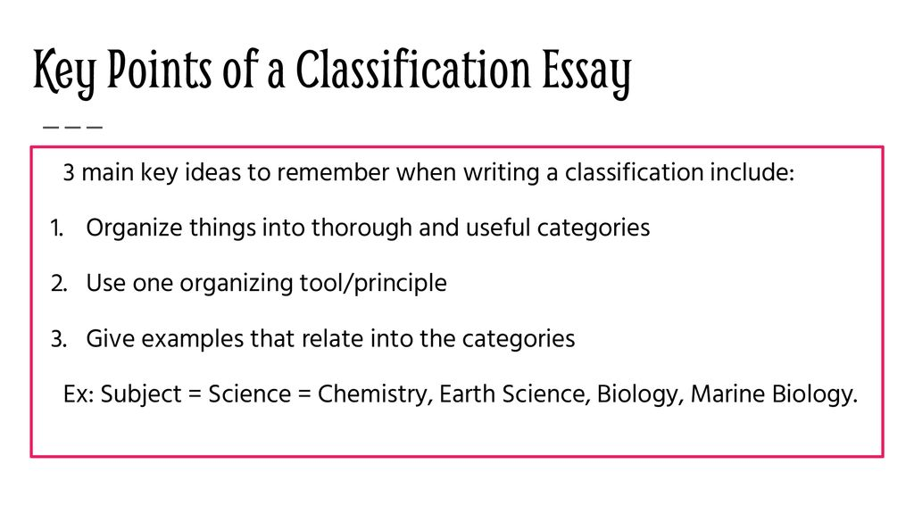 Division or Classification Essay - ppt download