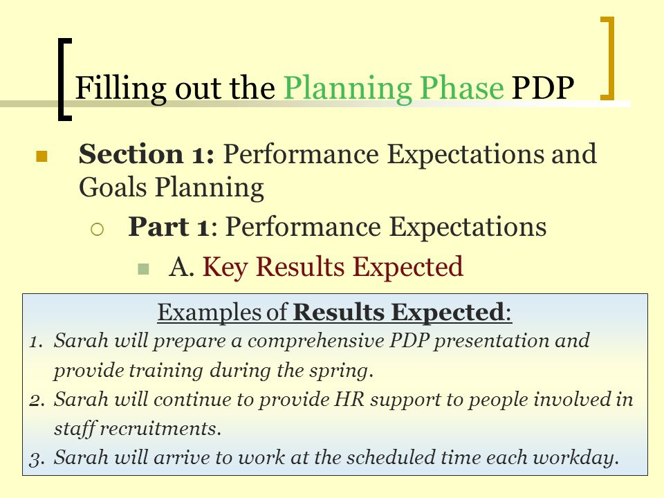 Performance Development Plan (PDP) Training - ppt video online download