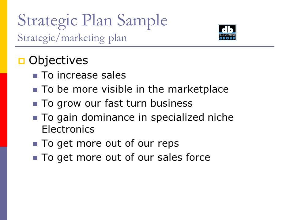 Strategic Plan Sample Strategic/Marketing plan August ppt video