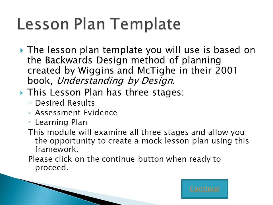 Writing Lesson Plans using the Backward Design Template - ppt video