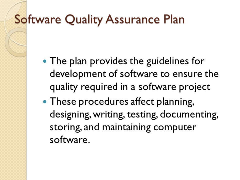 Software Quality Assurance Plan - ppt video online download