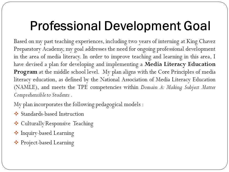 Media Literacy Education Program Professional Development Plan - ppt