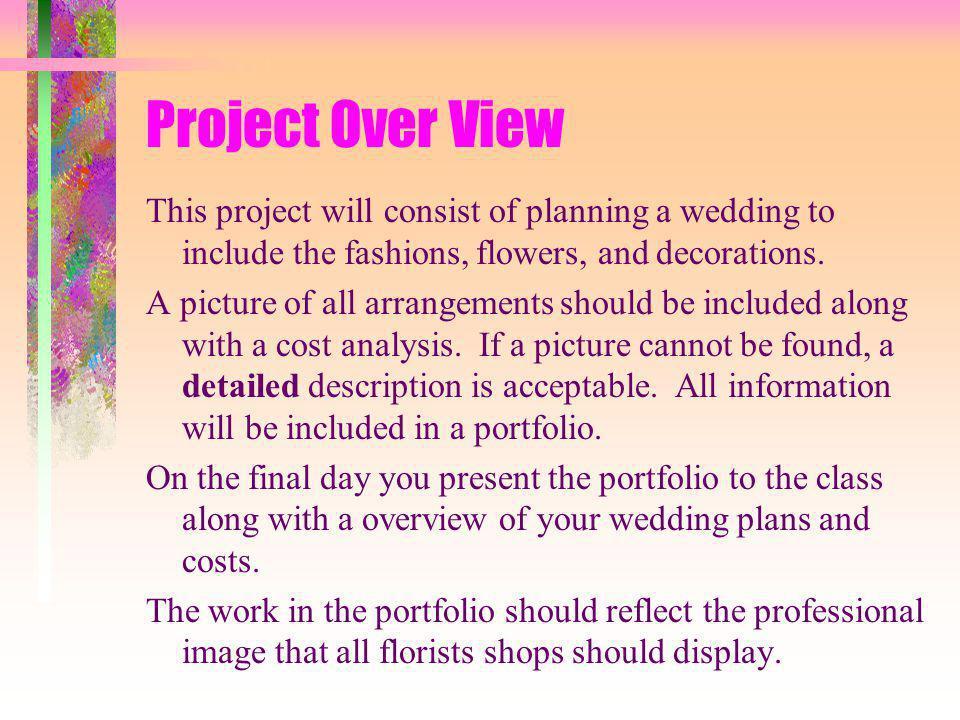Floriculture Wedding Planning Portfolio - ppt video online download - wedding plans