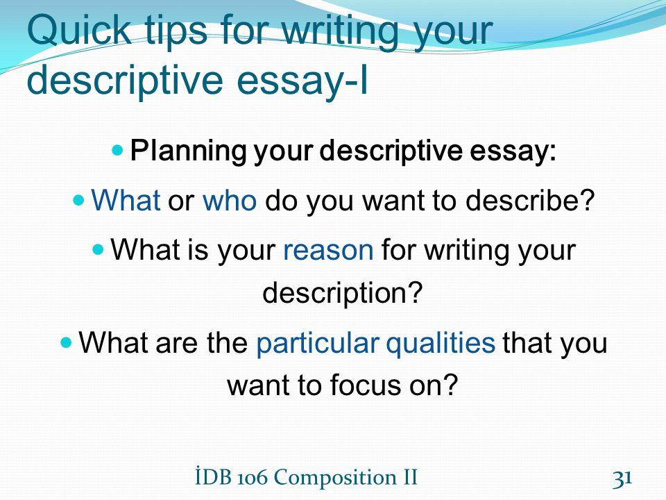 Write my tips for writing descriptive essays