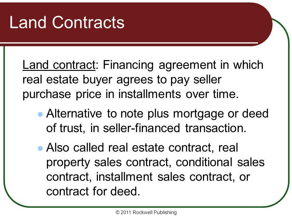 Washington Real Estate Fundamentals - ppt download - installment sales contract