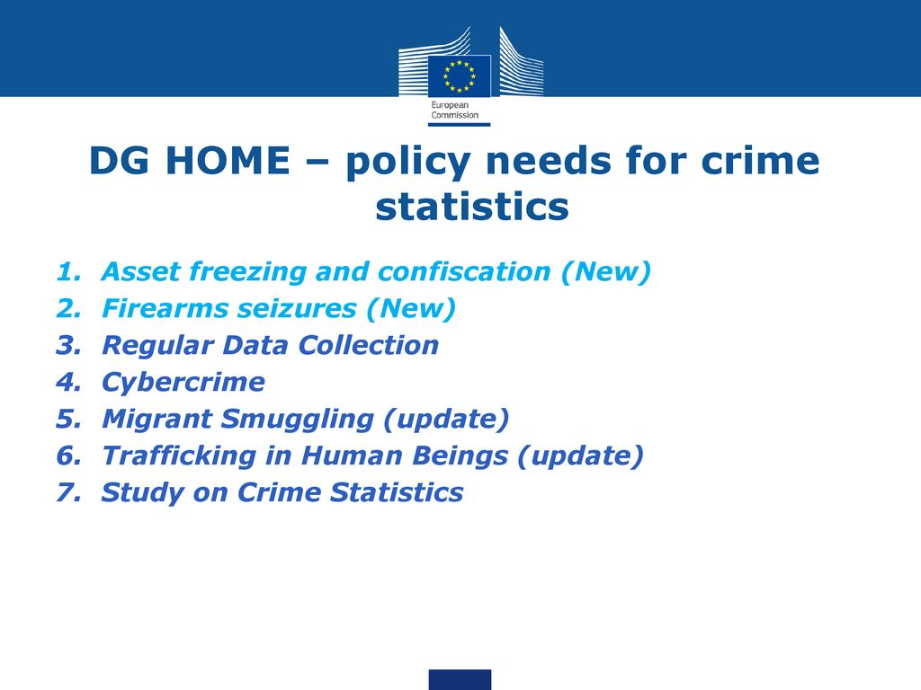 Dg Home 19 20 March 2018 Eurostat Working Group Meeting Statistics On