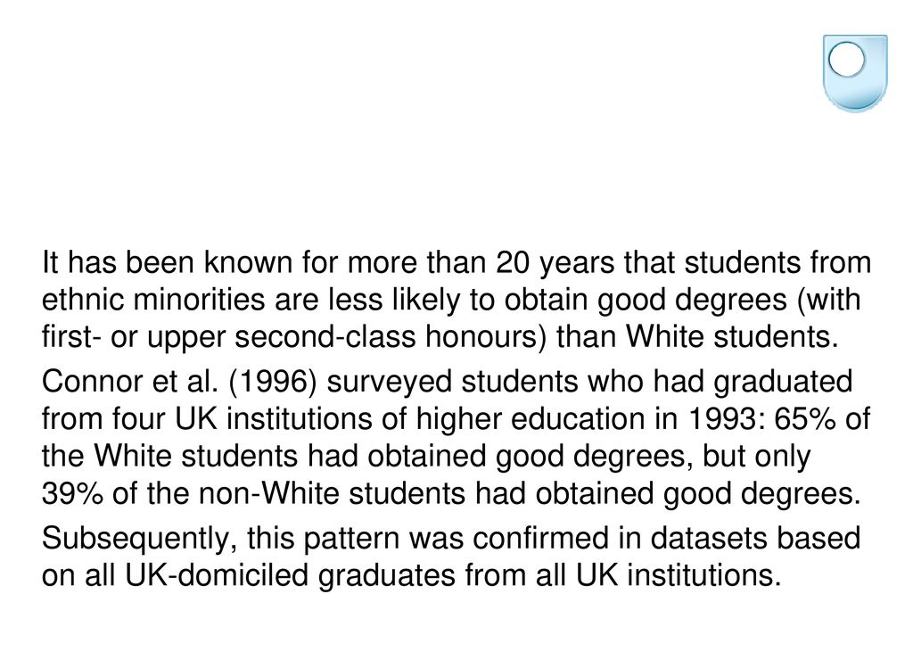 Understanding the under-attainment of ethnic minority students in UK