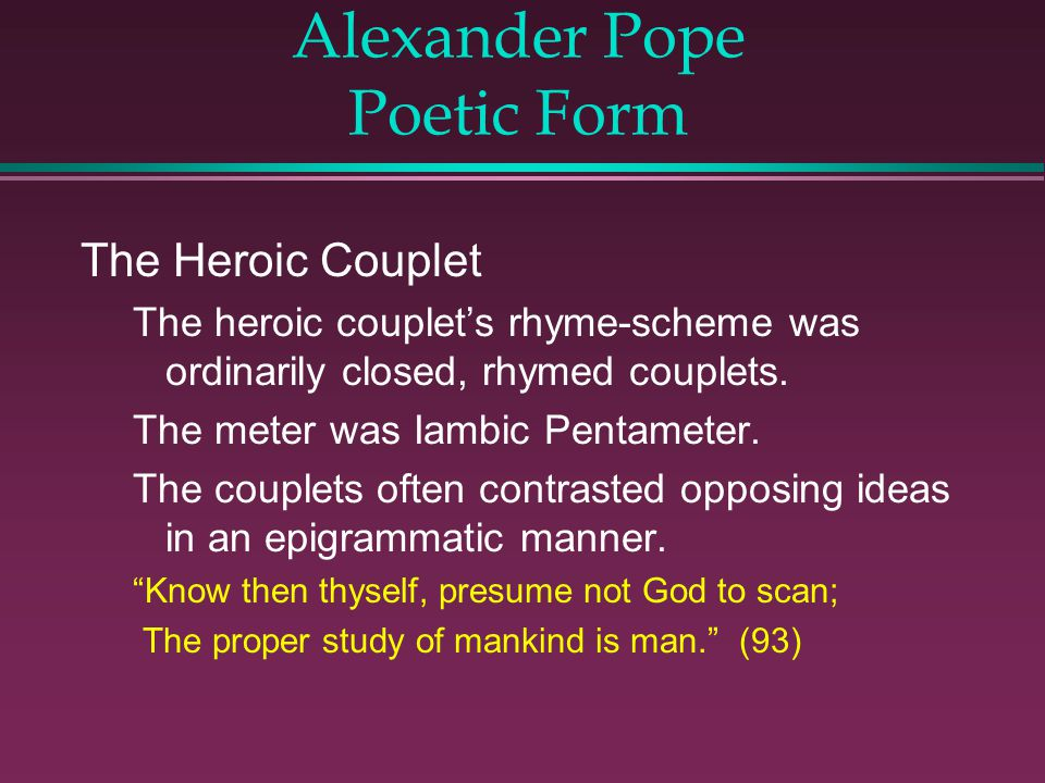 Poet of the Age of Reason - ppt download