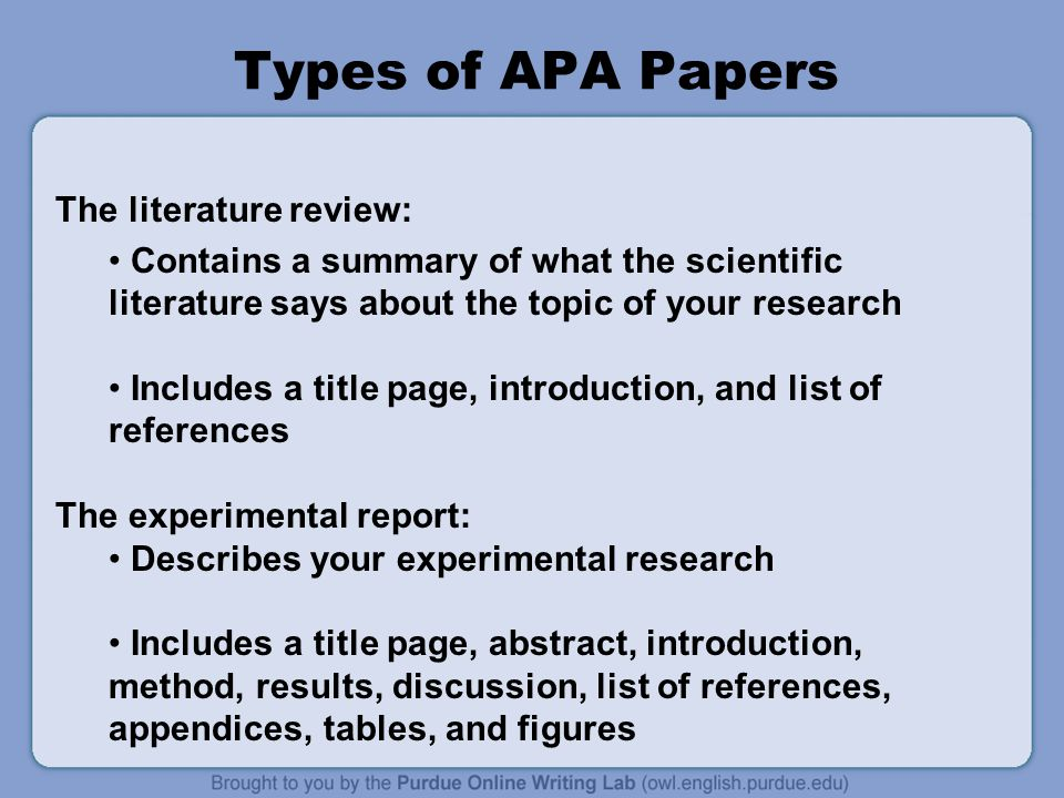 Writing a literature review apa style Research paper Service
