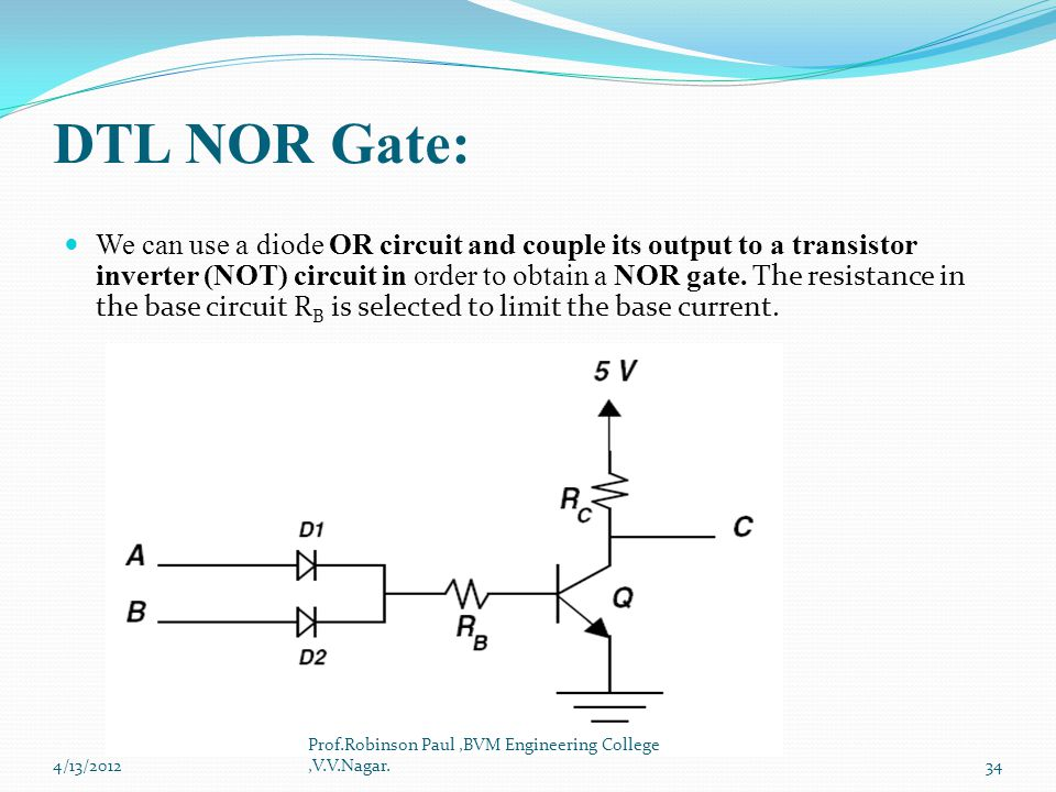 LOGIC FAMILIES CHAPTER  6 - ppt video online download