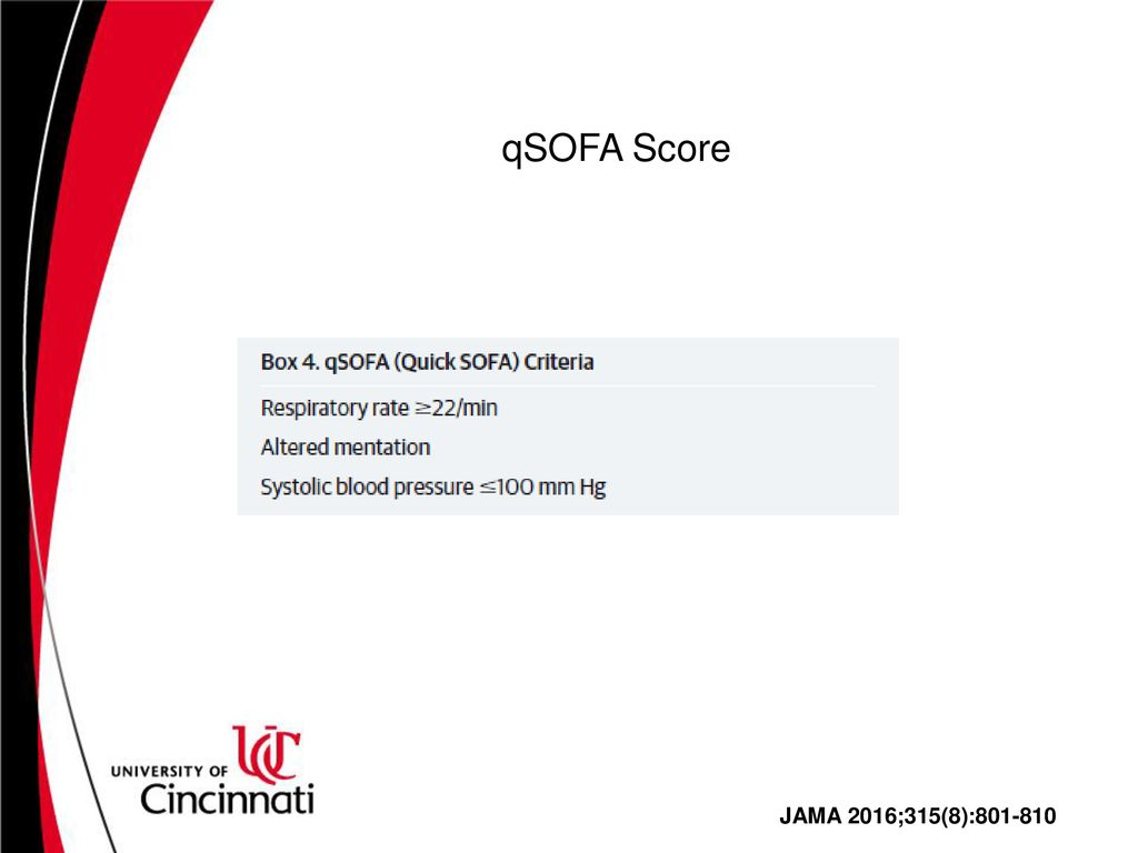 Qsofa Meta Analysis Focused Critical Care Review Ppt Download