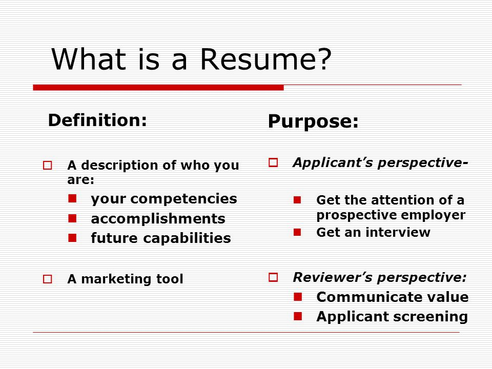 Resume Workshop - ppt video online download