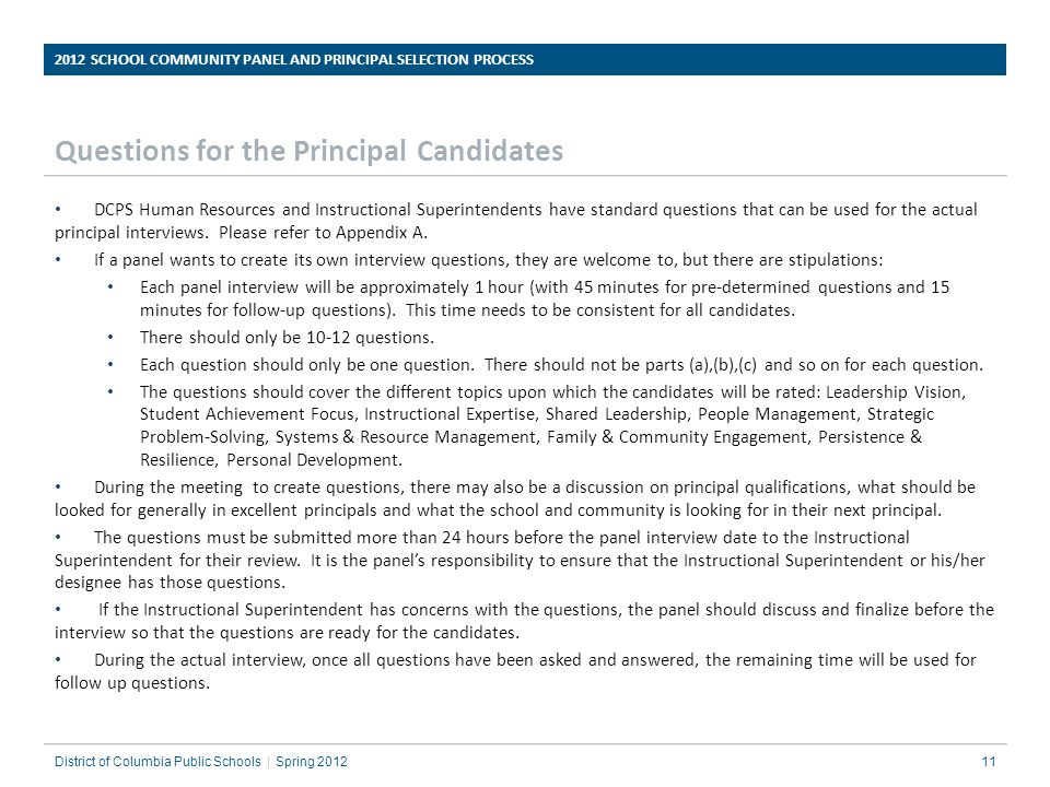 Assistant Principal Interview Questions assitant principal