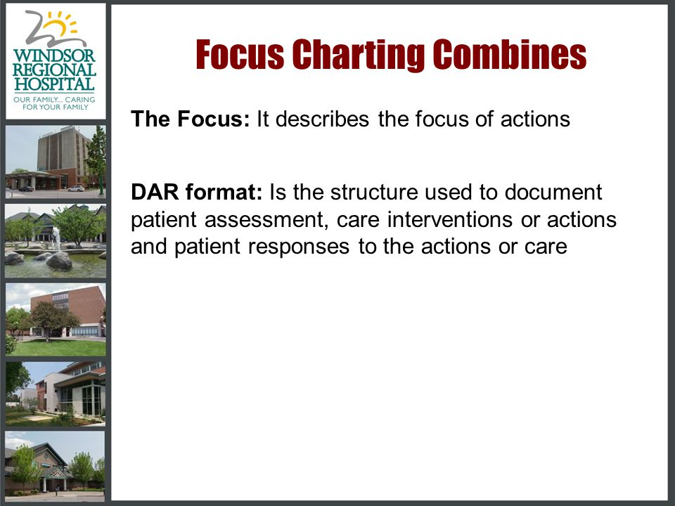 Focus Charting The Focus Charting System is the accepted