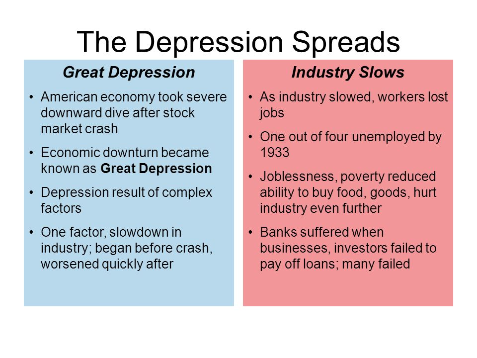 The Cause and Effect of the Great Depression - ppt video online download